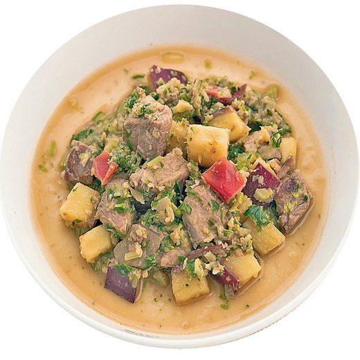 beef-herb sauce salad