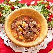 【冬季限定】鹿肉の野菜たっぷりボルシチ