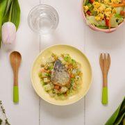 【春季限定】鰆のムニエルと春の温野菜
